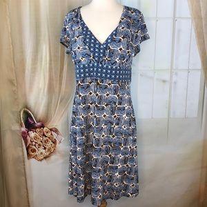 Axcess Short Sleeved Blue Dress